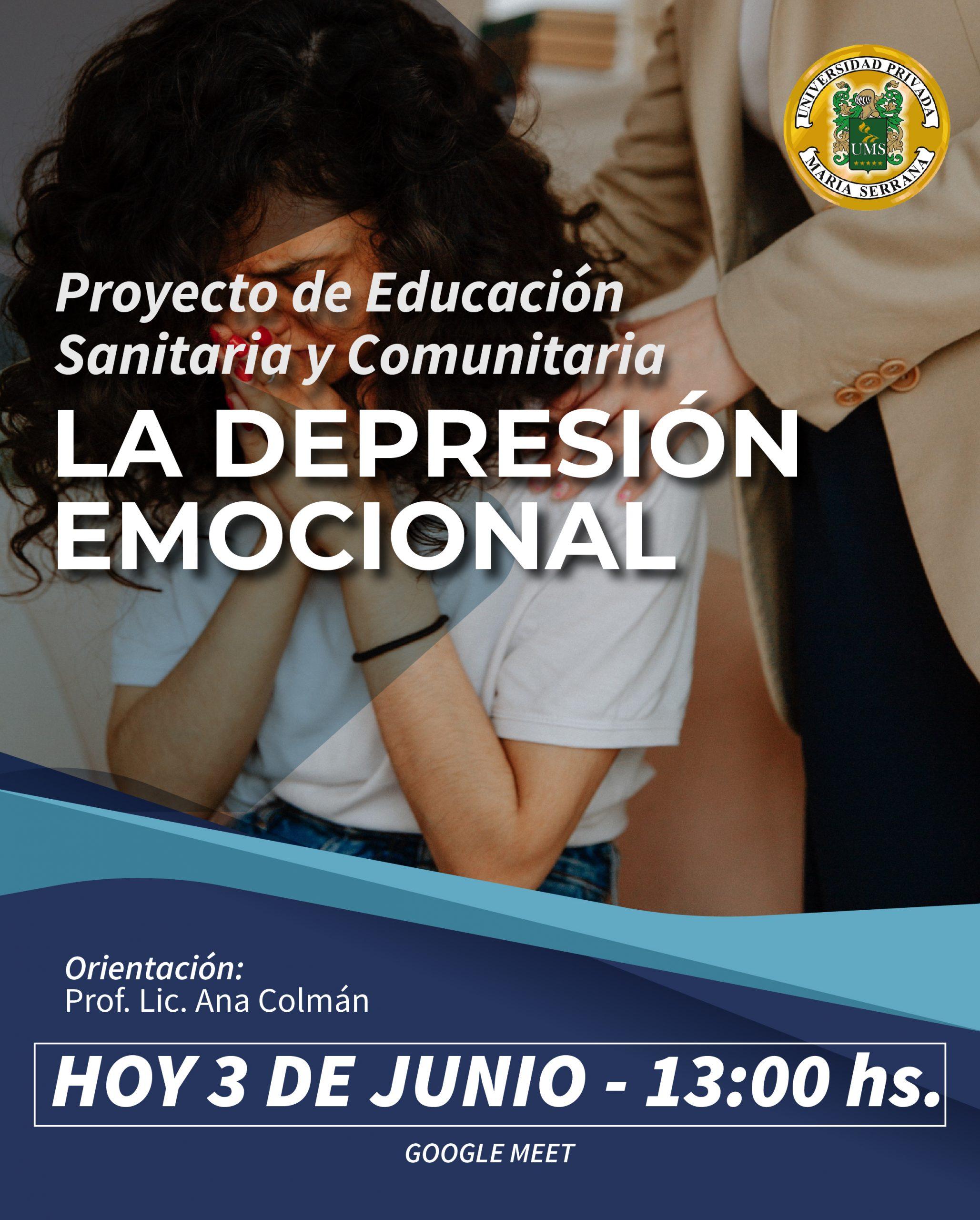 Charla Virtual TEMA La Depresión Emocional